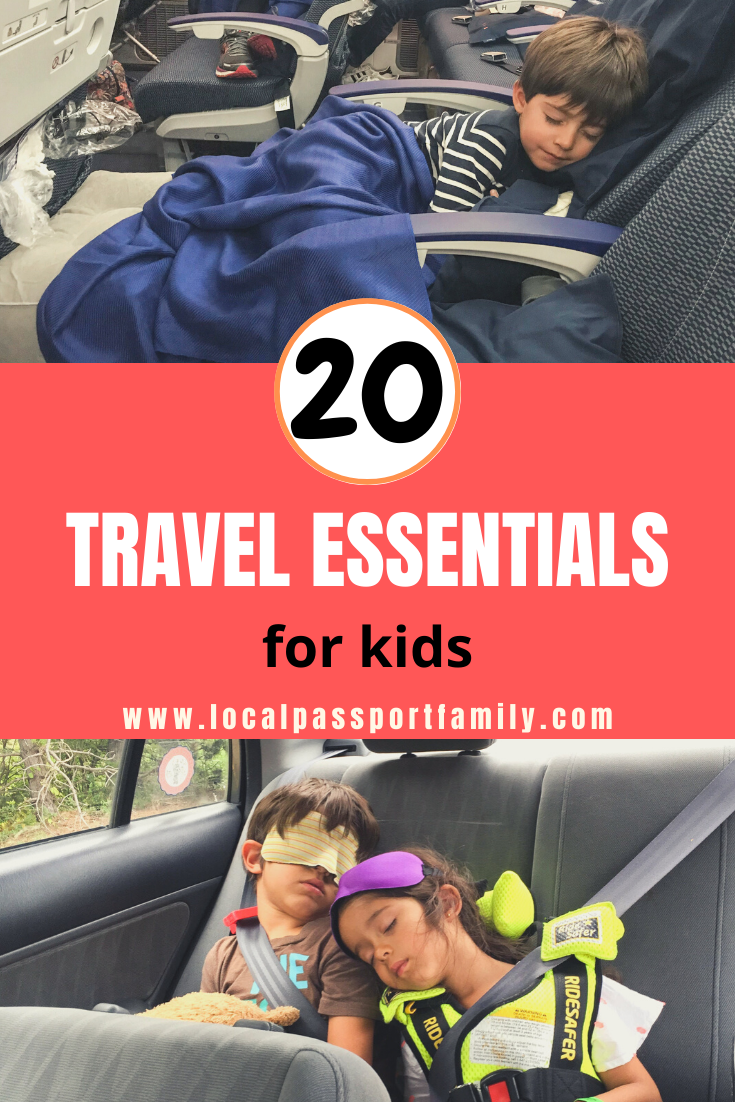 20 travel essentials for kids