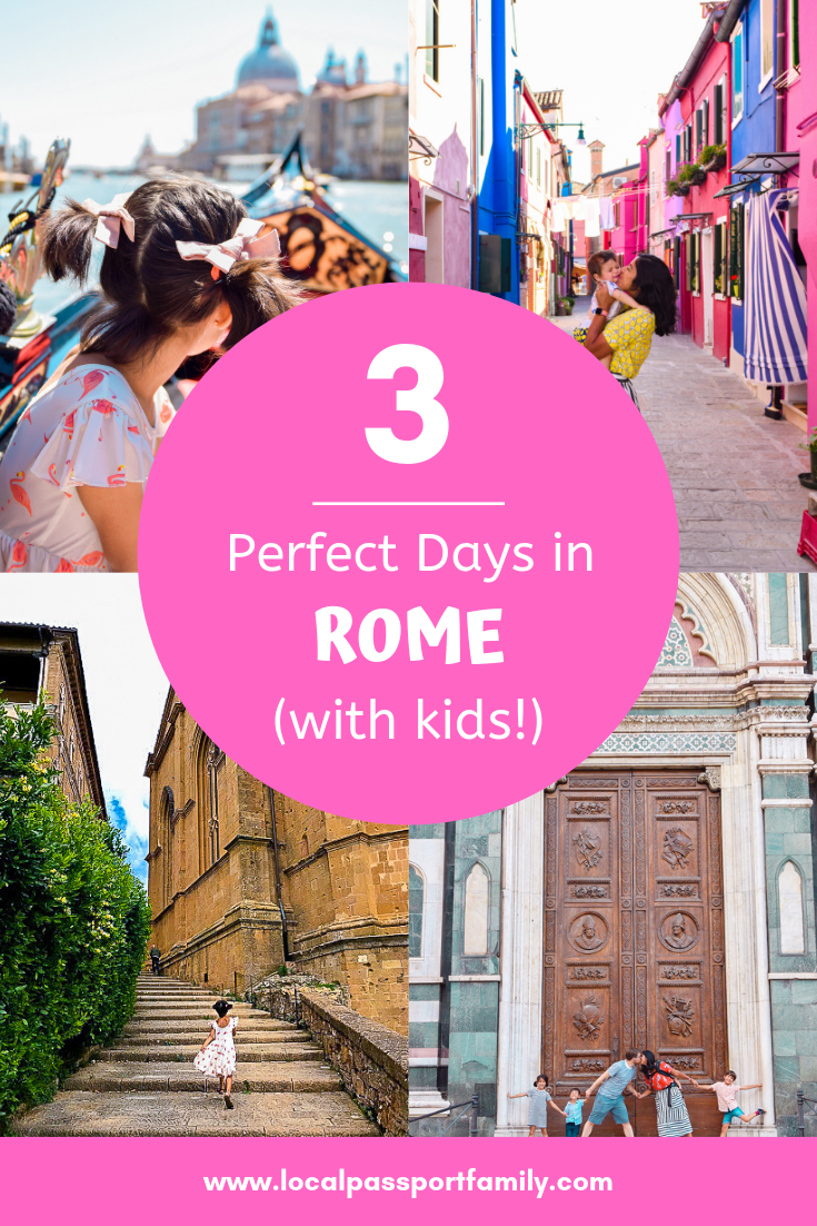 three days in rome with kids | | Rome with Kids: a Complete 3 Day Itinerary featured by top US family travel blog, Local Passport Family