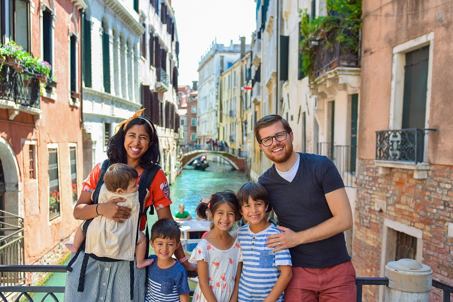 pictures in italy with kids