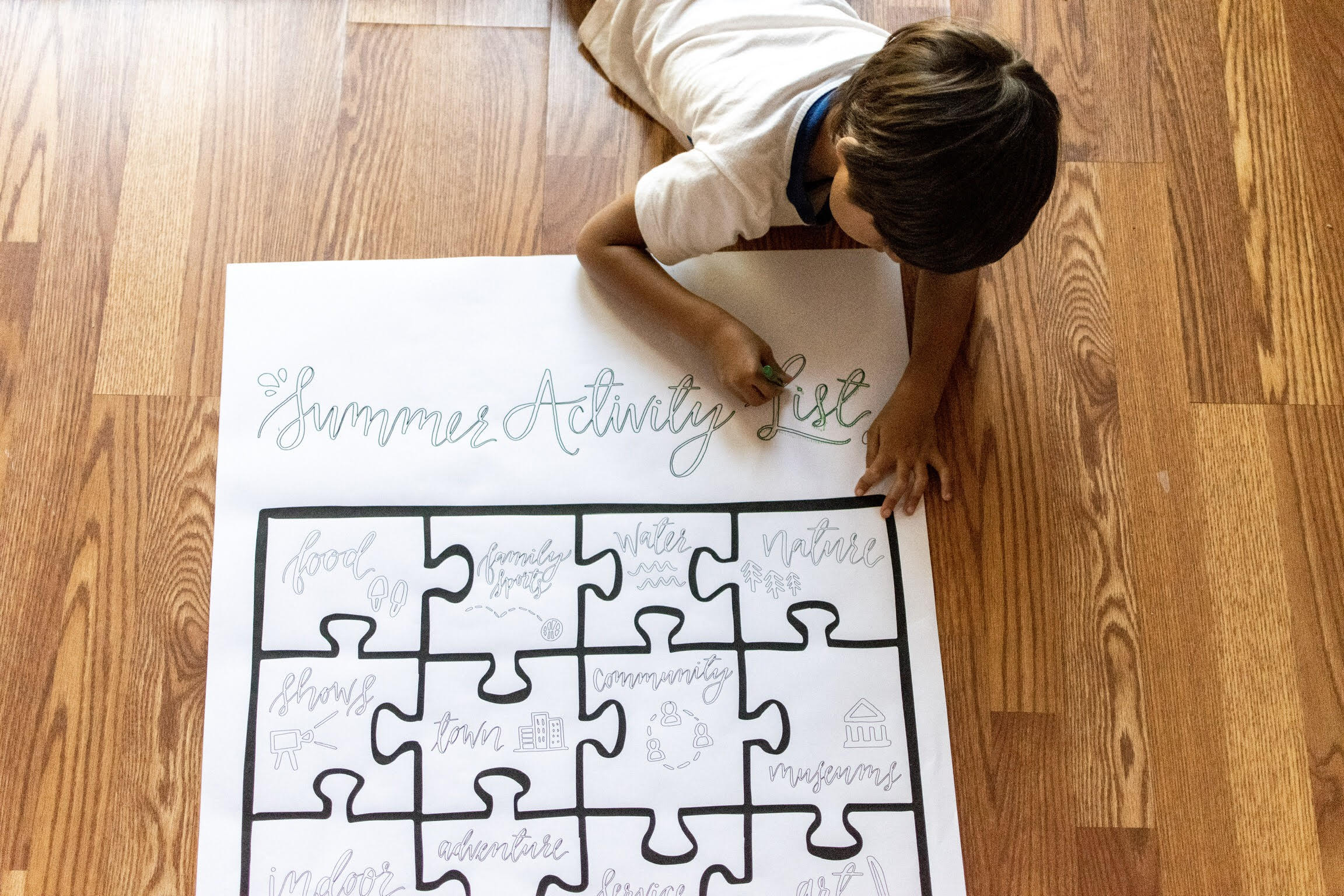 fun summer activities for kids coloring chart, a free printable featured by top US family blog, Local Passport Family