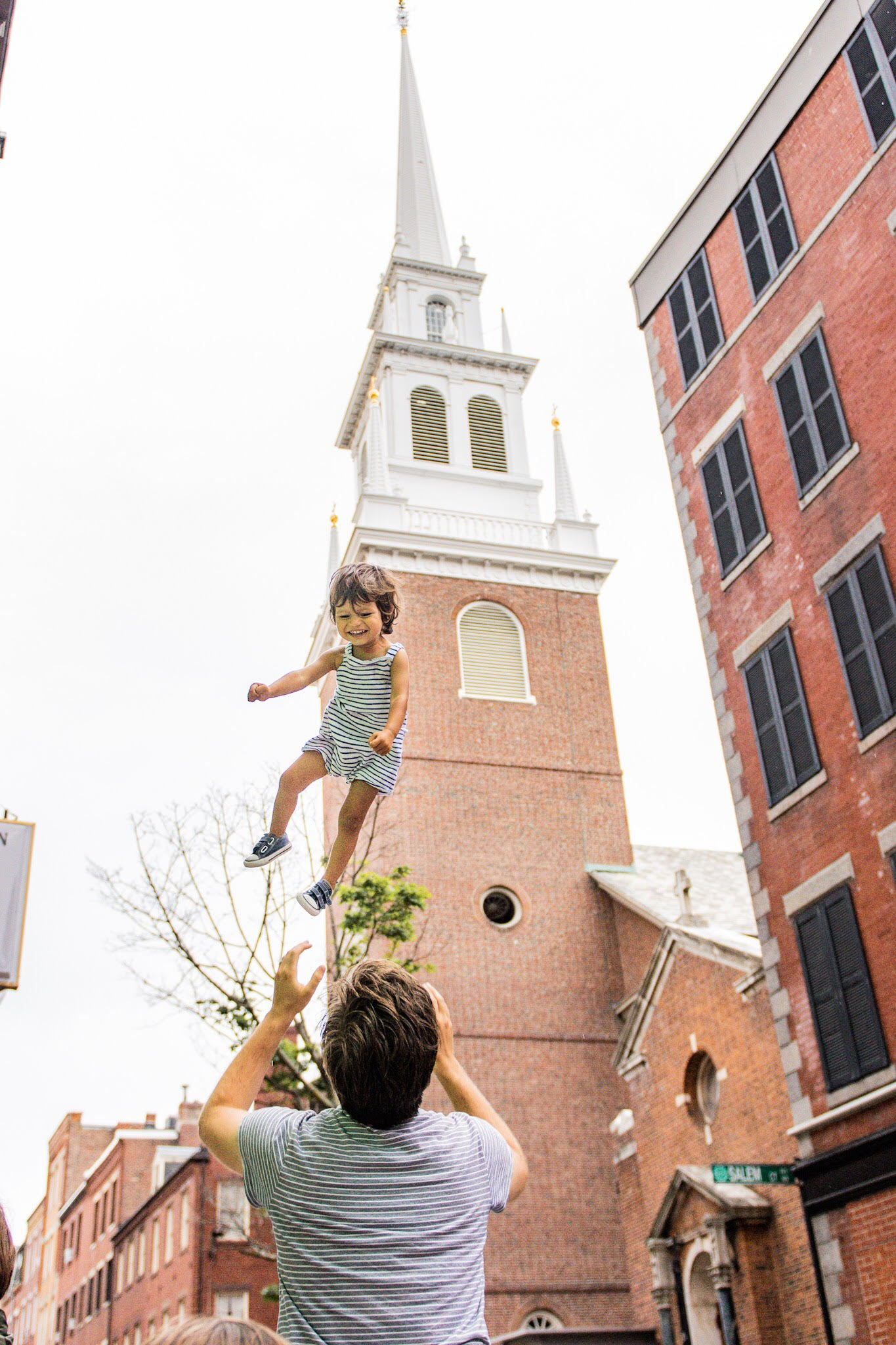 old north church with baby
