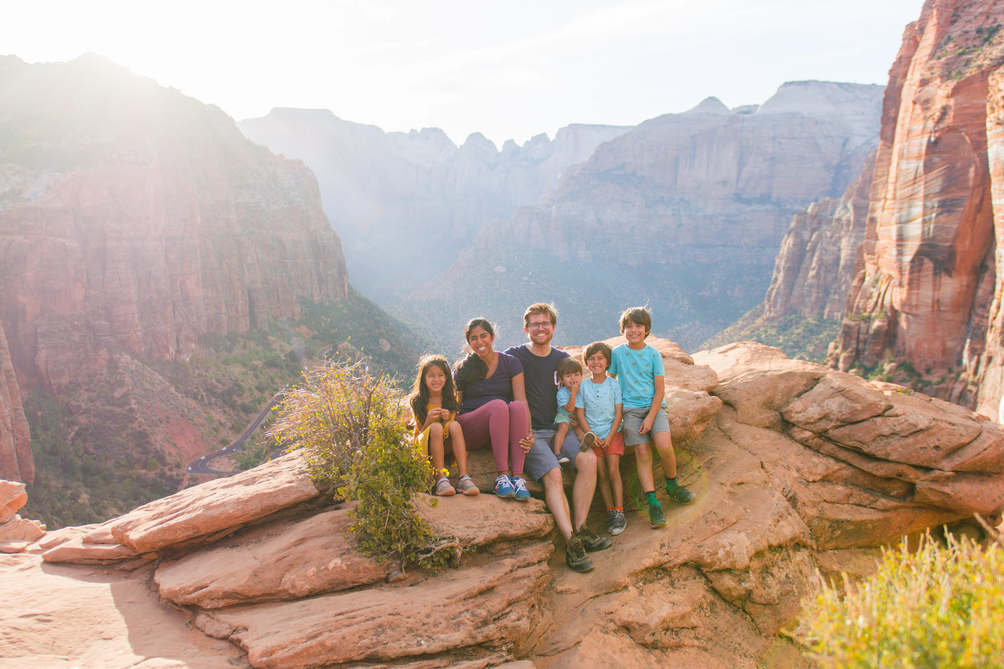 zion national park family vacation