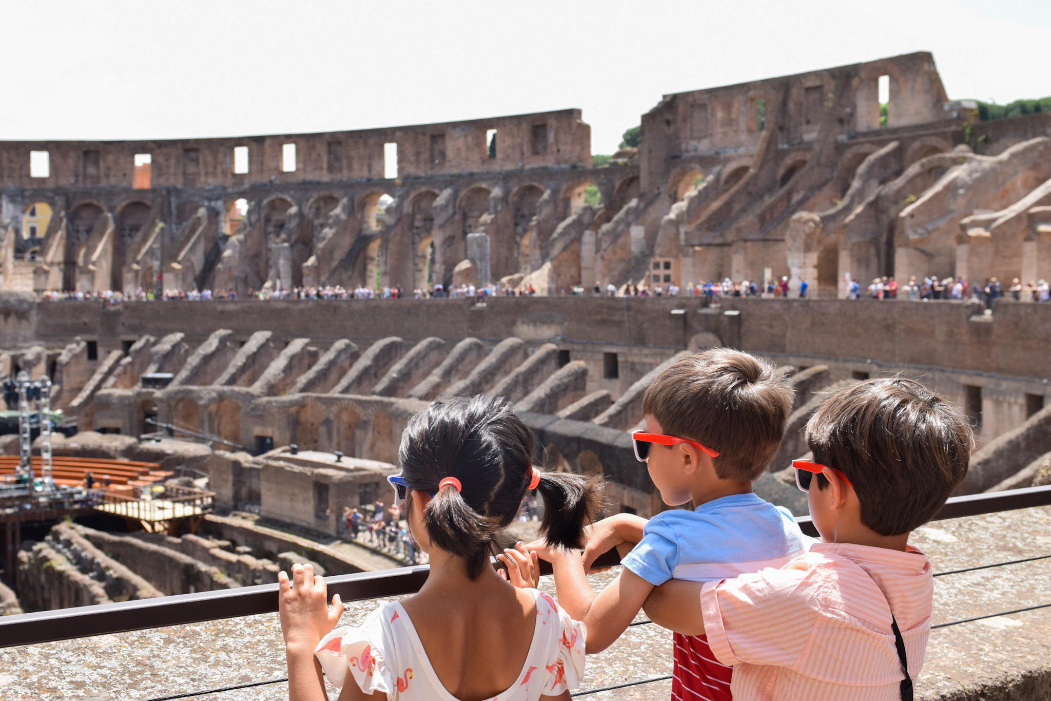 visiting the colosseum rome italy with kids