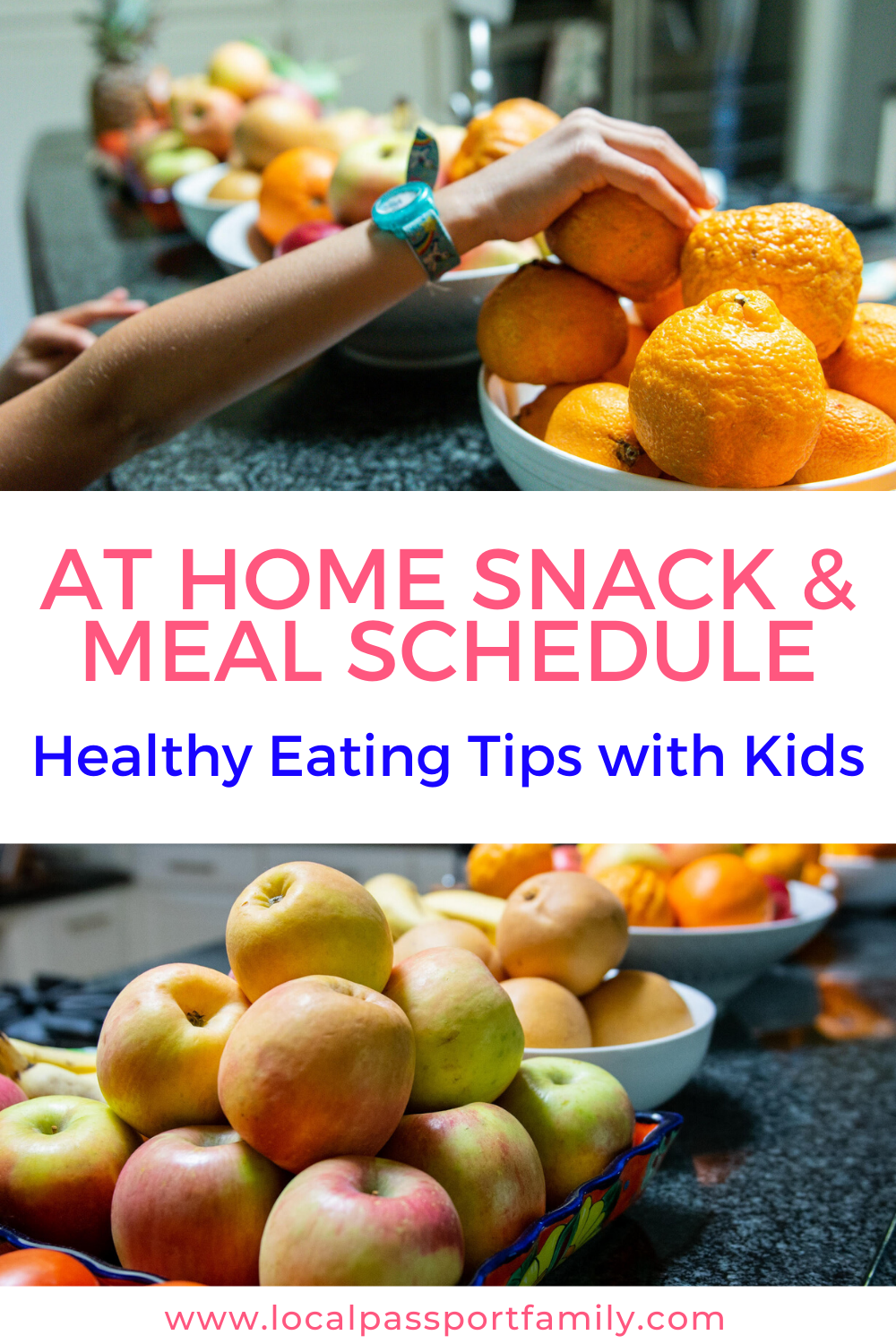meal schedule with kids