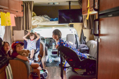 rv with kids car seats