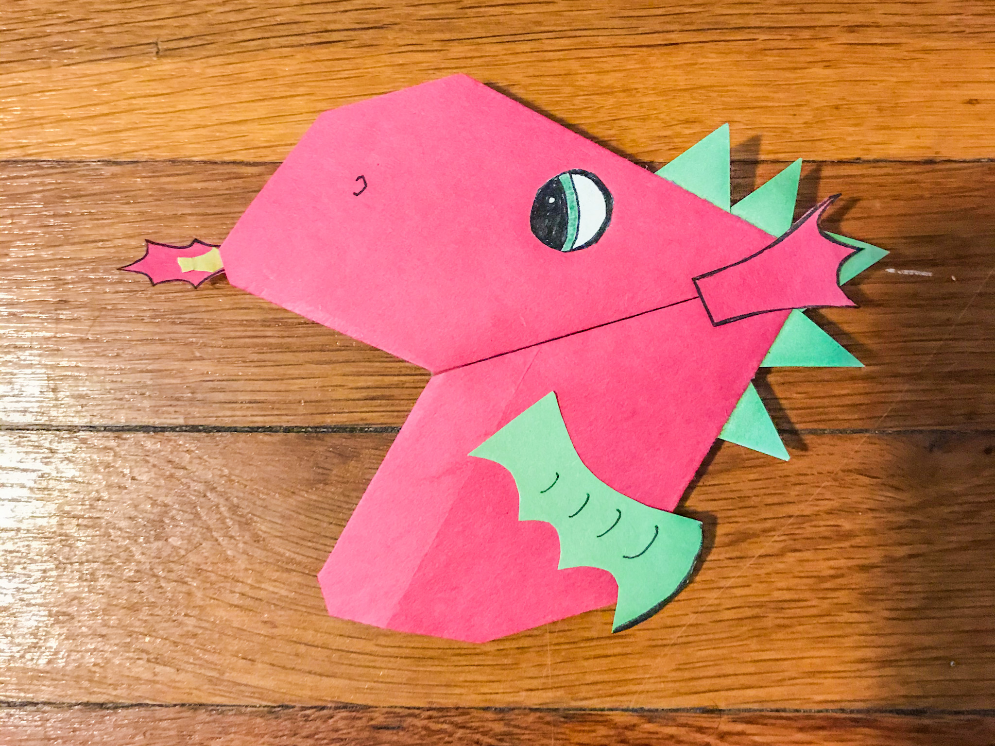 dragon bookmark wales for kids