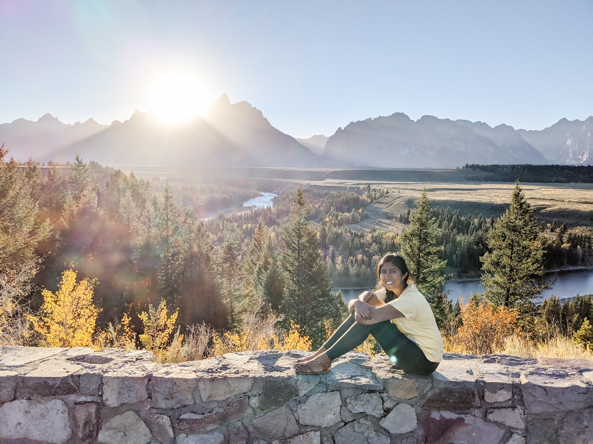 1 day itinerary in grand teton snake river overlook