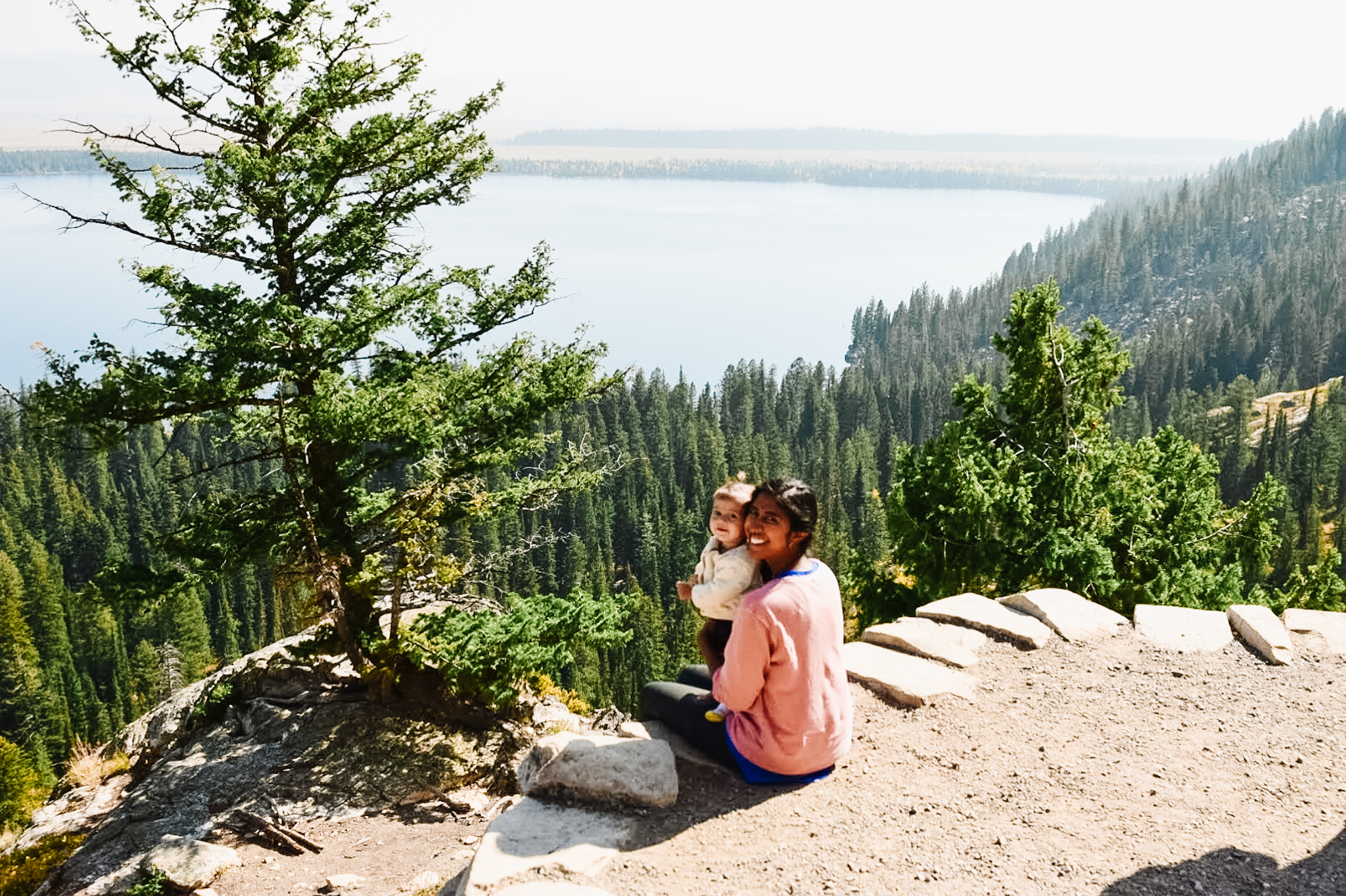 grand teton with a baby
