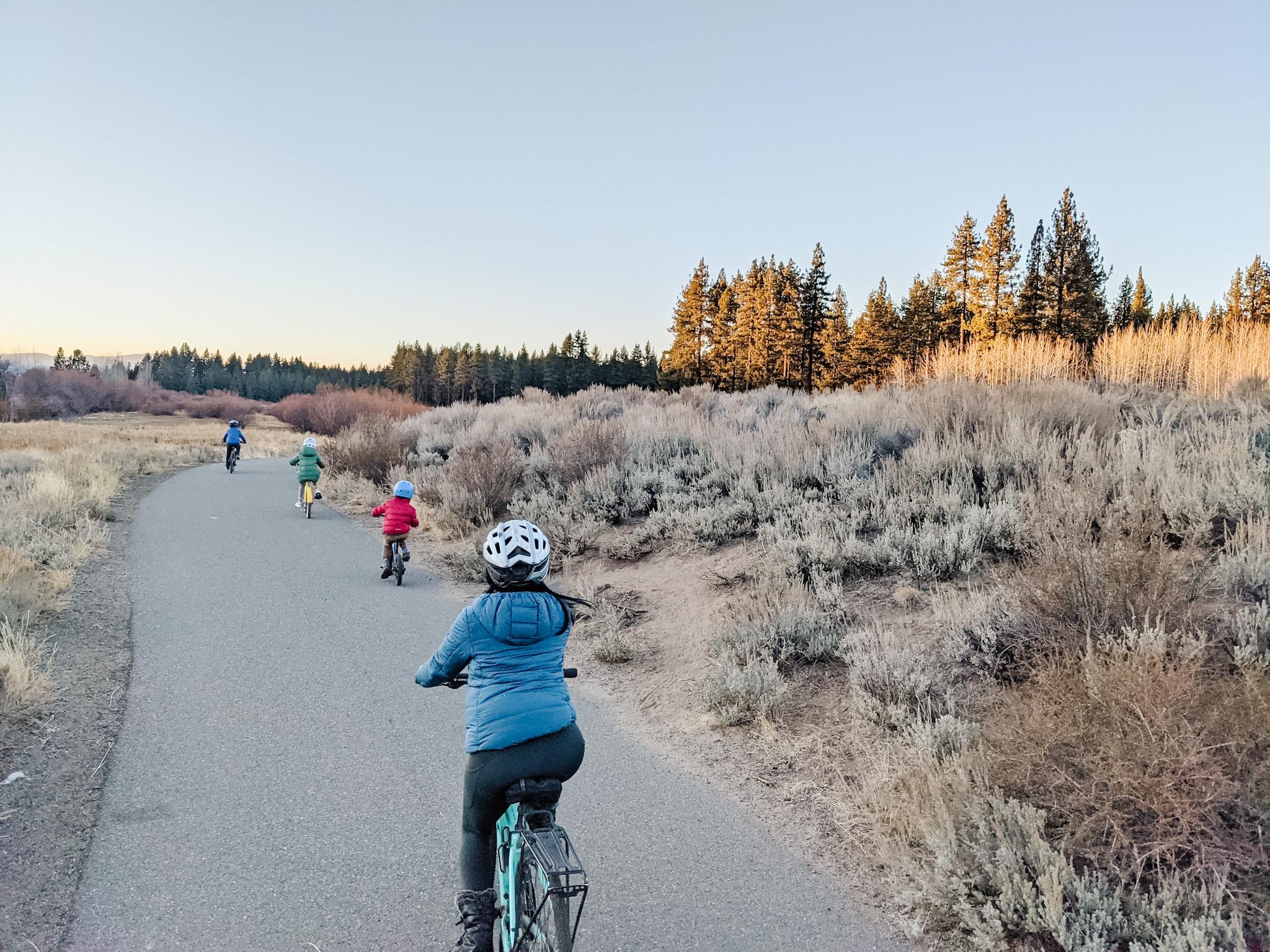 south lake tahoe with kids bike ride